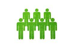 Lokalisiert von den Leuten auf grünem Gras Lizenzfreie Stockfotos