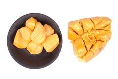 Lokalisiert von der Jackfruit Jumpatong-Teilschale und entfernen Sie die Samen O Stockfotografie