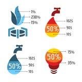 Lokalisierte abstrakte blaue und rote Vektorlogos eingestellt Hilfsservice-Ikonen Stockfoto