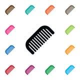 Lokalisierte Barber Tool Icon Haarbürste-Vektor-Element kann für Haarbürste, Friseur, Werkzeug-Konzept des Entwurfes benutzt werd Stockfoto