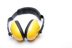 Lokalisierte Beispiele des Gehörschutzohrs seines weißen Hintergrundes Lizenzfreies Stockbild