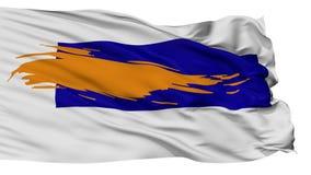 Lokalisierte Bergen-Stadtflagge, die Niederlande stock video