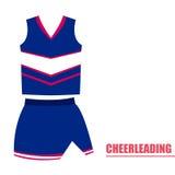 Lokalisierte cheerleading Uniform Stockbilder