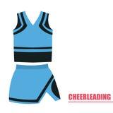 Lokalisierte cheerleading Uniform Lizenzfreie Stockbilder