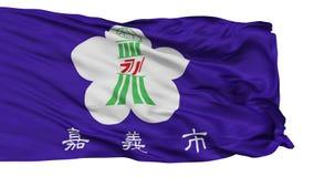 Lokalisierte Chiayi-Stadtflagge, Taiwan lizenzfreie abbildung