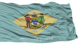 Lokalisierte Delaware-Flagge, USA-Staat Stockbild