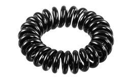 Lokalisierte elastische Schwarz-Spirale Hari Tie Lizenzfreie Stockfotografie