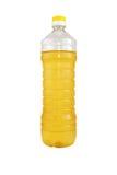Lokalisierte Flasche Sonnenblumenöl Lizenzfreie Stockfotos