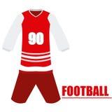 Lokalisierte Fußballuniform Stockbilder