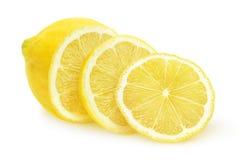 Lokalisierte geschnittene Zitrone Stockbild