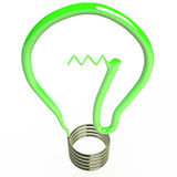 Lokalisierte Glühlampe, 3D Lizenzfreie Stockfotos