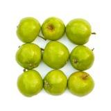 Lokalisierte grüne Äpfel Stockfotografie