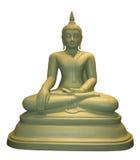 Thailändischer Buddha-Statueweißsitzhintergrund Lizenzfreies Stockfoto