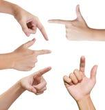 Lokalisierte Hände in der Vielzahlart Stockbild