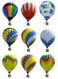 Lokalisierte Heißluftballone Stockbilder