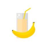 Lokalisierte Ikone der Banane Saft auf weißem Hintergrund Stockfotografie