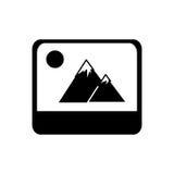 Lokalisierte Ikone der Bilddatei Lizenzfreies Stockbild