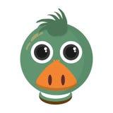 Lokalisierte Ikone der Farm der Tiere der Ente Lizenzfreie Stockfotos