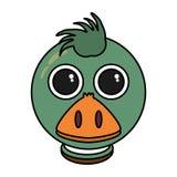 Lokalisierte Ikone der Farm der Tiere der Ente Lizenzfreies Stockfoto