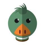 Lokalisierte Ikone der Farm der Tiere der Ente Stockbild