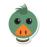 Lokalisierte Ikone der Farm der Tiere der Ente Stockfoto