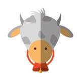 Lokalisierte Ikone der Farm der Tiere der Kuh Lizenzfreies Stockfoto