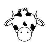 Lokalisierte Ikone der Farm der Tiere der Kuh Lizenzfreie Stockfotos