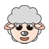 Lokalisierte Ikone der Farm der Tiere der Schafe Lizenzfreies Stockbild
