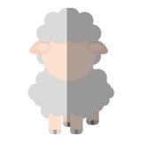 Lokalisierte Ikone der Farm der Tiere der Schafe Stockbilder