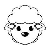 Lokalisierte Ikone der Farm der Tiere der Schafe Lizenzfreie Stockbilder