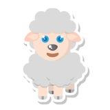 Lokalisierte Ikone der Farm der Tiere der Schafe Stockfotografie