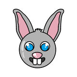 Lokalisierte Ikone der Farm der Tiere des Kaninchens Stockfotografie