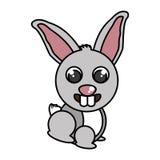 Lokalisierte Ikone der Farm der Tiere des Kaninchens Stockbilder