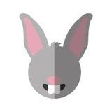 Lokalisierte Ikone der Farm der Tiere des Kaninchens Lizenzfreies Stockfoto