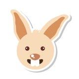 Lokalisierte Ikone der Farm der Tiere des Kaninchens Lizenzfreie Stockbilder