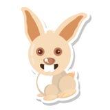 Lokalisierte Ikone der Farm der Tiere des Kaninchens Lizenzfreie Stockfotografie