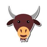 Lokalisierte Ikone der Farm der Tiere des Mantels Stockfotografie