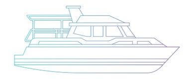 Lokalisierte Ikone der Yacht Schiff stock abbildung