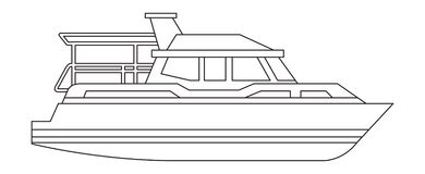 Lokalisierte Ikone der Yacht Schiff vektor abbildung