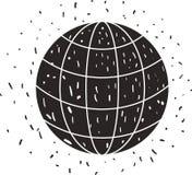 Lokalisierte Ikone des Bereichs Planet stock abbildung