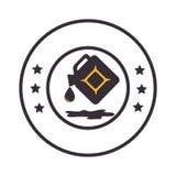 Lokalisierte Ikone des Brennstoffs Gallone lizenzfreie abbildung