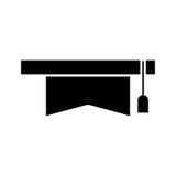 Lokalisierte Ikone des Hutes Staffelung Stockbilder