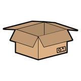 Lokalisierte Ikone des Kastens Karton stock abbildung