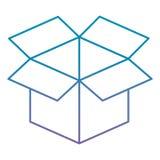 Lokalisierte Ikone des Kastens Karton vektor abbildung