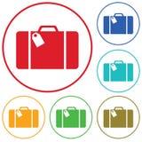 Lokalisierte Ikone des Koffers Reise Lizenzfreie Stockbilder