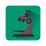 Lokalisierte Ikone des Mikroskops Gerät Stockfotografie