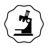 Lokalisierte Ikone des Mikroskops Gerät Lizenzfreie Stockfotos