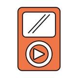 Lokalisierte Ikone des Multimedia-Spielers Portable Lizenzfreie Stockfotos