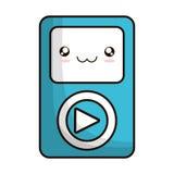 Lokalisierte Ikone des Multimedia-Spielers Portable Lizenzfreies Stockfoto