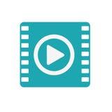 Lokalisierte Ikone des Multimedia-Spielers Portable Stockfotografie